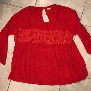 Red/orange holliston shirt